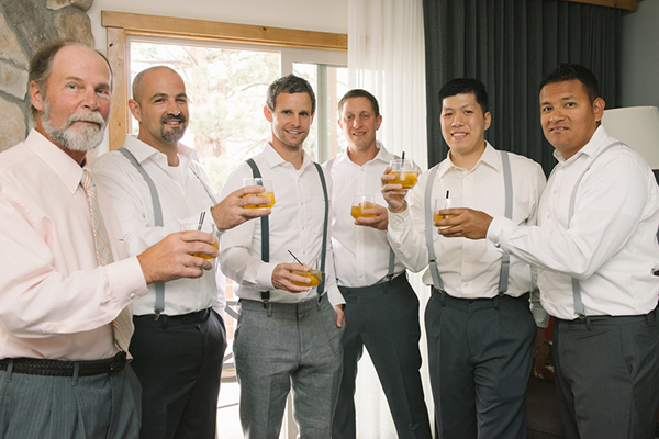 The groomsmen getting ready photo