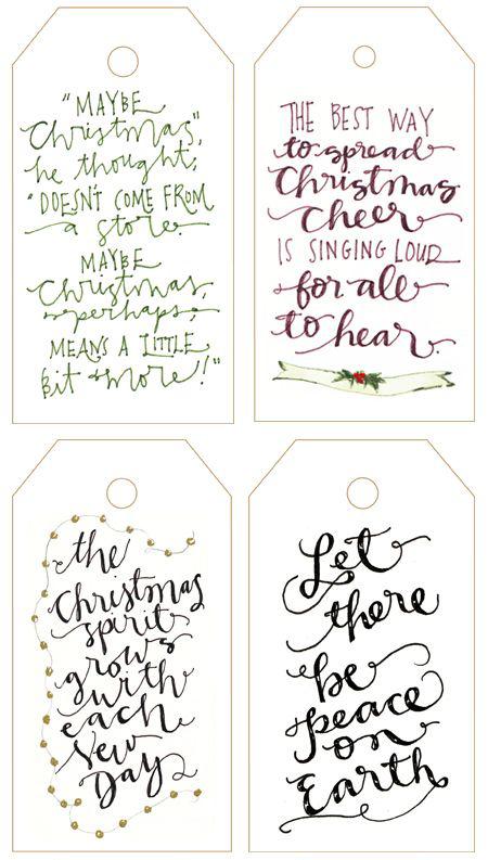 DIY Gift // Free printable holiday tags