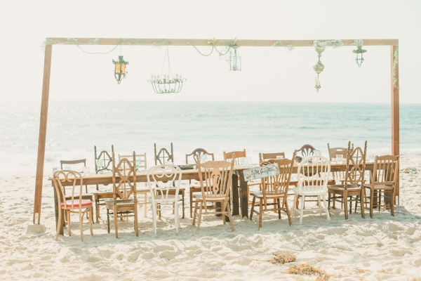 Lovely low key beach reception!