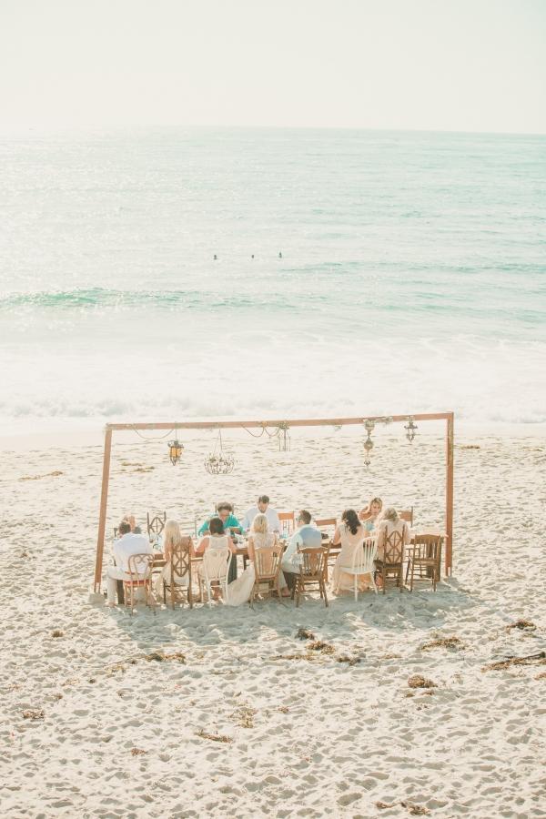 Beautiful beach reception!