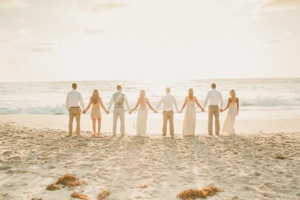 Lovely reflective wedding photo
