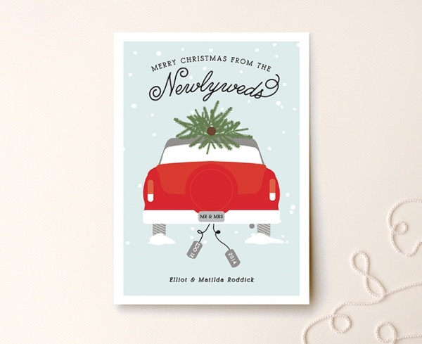 Cute newlywed holiday card ideas from minted a giveaway wedpics much truly original and unique newlywed holiday card idea from minted m4hsunfo
