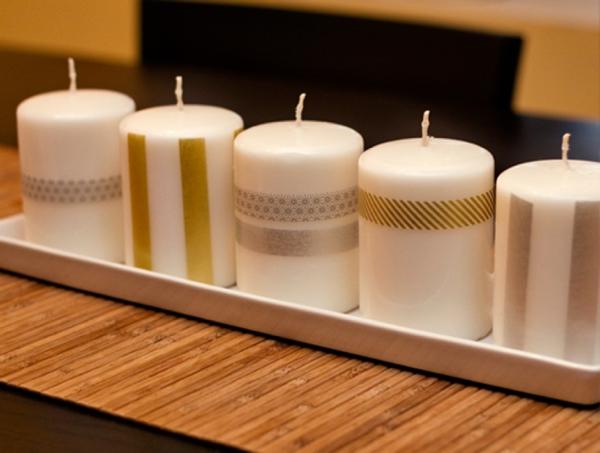 DIY Gift // Washi tape candles