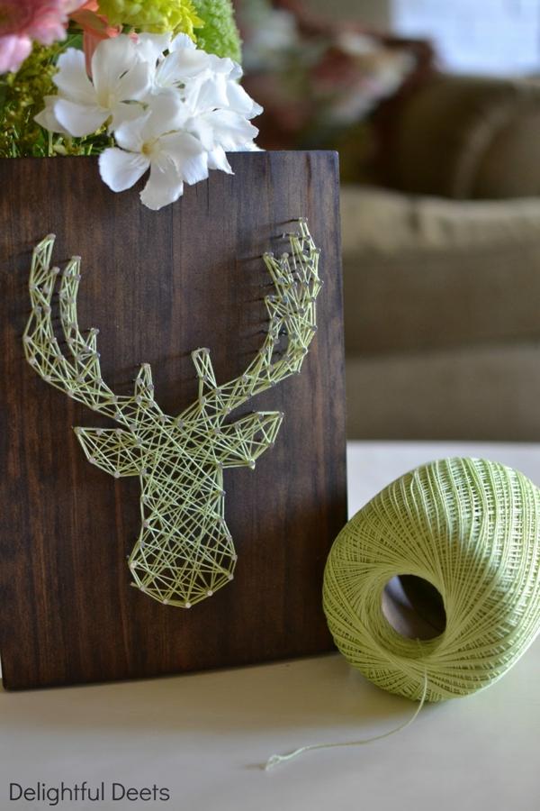 DIY Gift // string art board