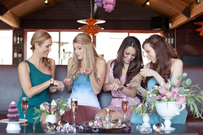 women at bridal shower pretty women ladies at party fun girls pretty dresses bridal shower ideas