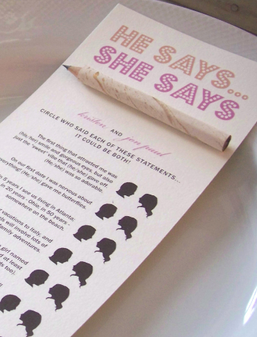 he says she says game games for bridal party bridal party games wedding shower ideas wedding