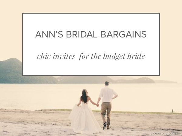 Shop Gorgeous Budget Wedding Invitations From Ann S Bridal Bargains