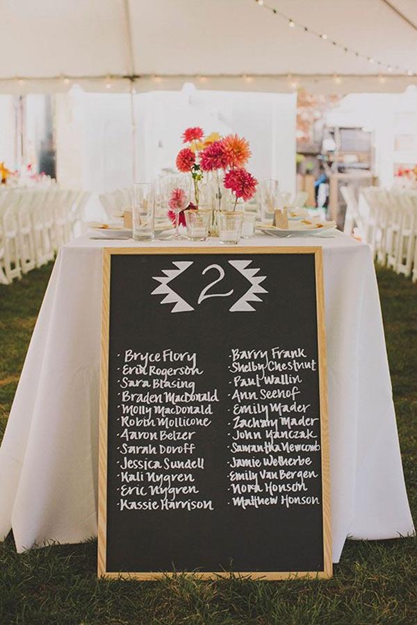 DIY Wedding Seating Cards and Displays | Martha Stewart Weddings | 900x600