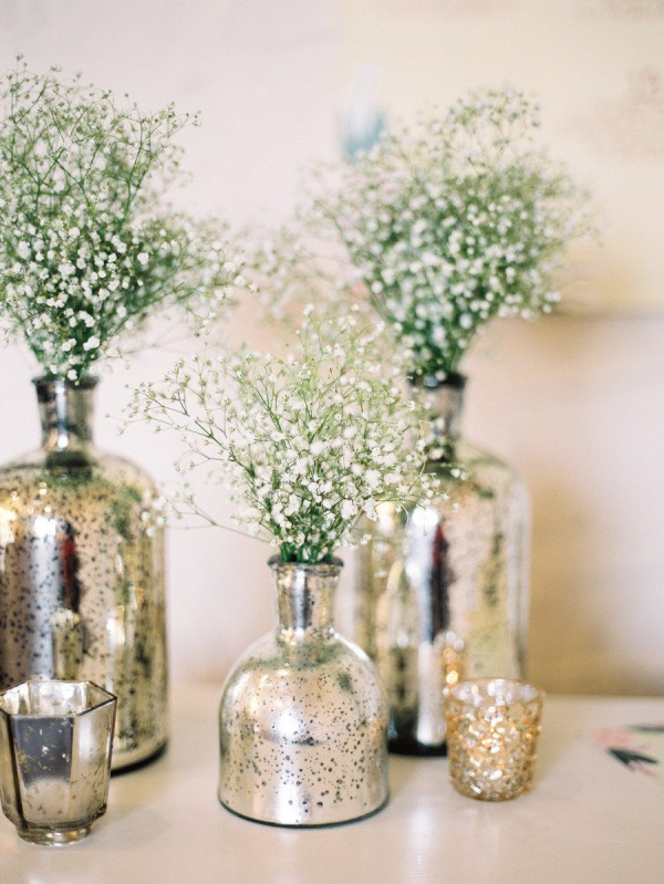 Diy Mercury Glass Centerpiece Vases For Your Rustic Chic Wedding Wedpics Blog