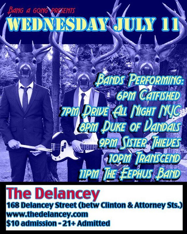 Just announced! Mark your calendars for Wednesday July 11th at 6 pm. Come down after work and rock out with us! • • • #nyc #nycmusic #nycband #coverband #rocknroll #summer #music #rockband #gig #show