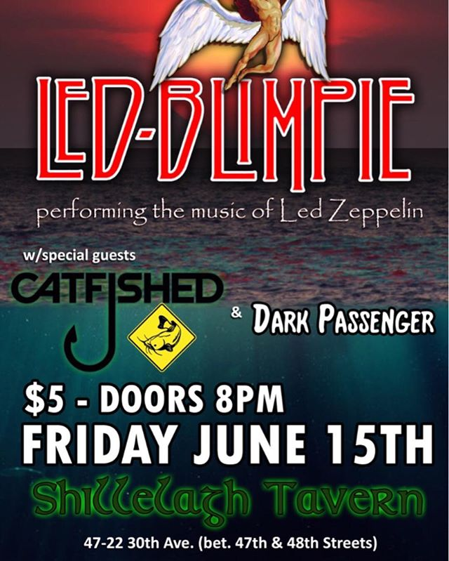 BIG show this Friday! We're bringing the rock to Queens and opening for NYC's own Led Zeppelin tribute @led_blimpie at @shilltavern! Party starts at 8 pm 🎸🎶🤘🏻