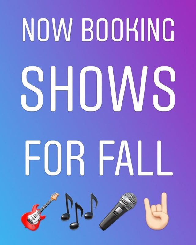 DM or email cocampbell22@gmail.com to have us at your venue!