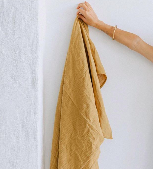Taninaka.san - The softest, plant-dyed, multi purpose, organic cotton muslin wraps. Naturally we own a bunch of them including indigo blue!@taninaka.san