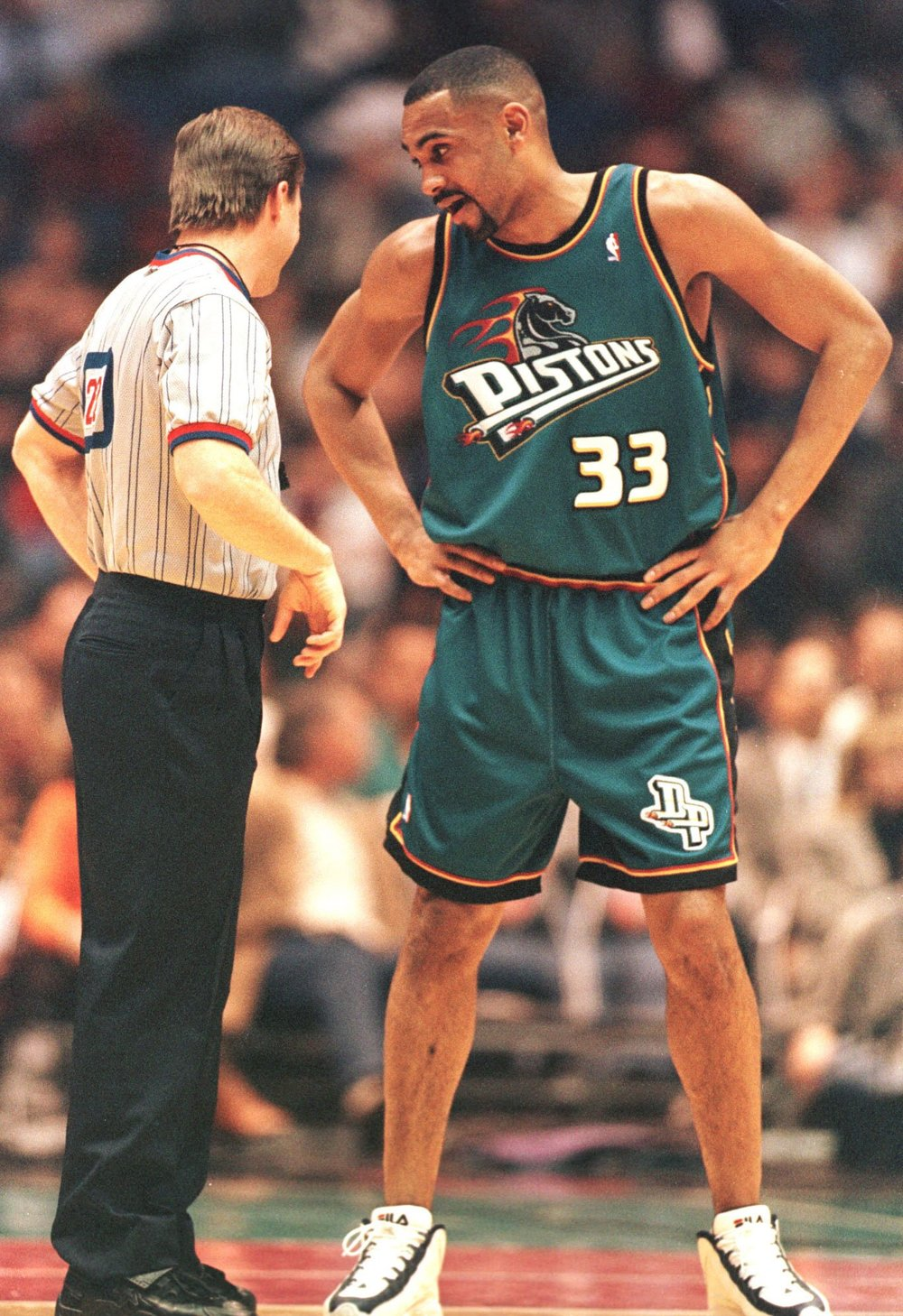 The Ref should never be dressed better than the pros on the court.....Cool FILA's though.