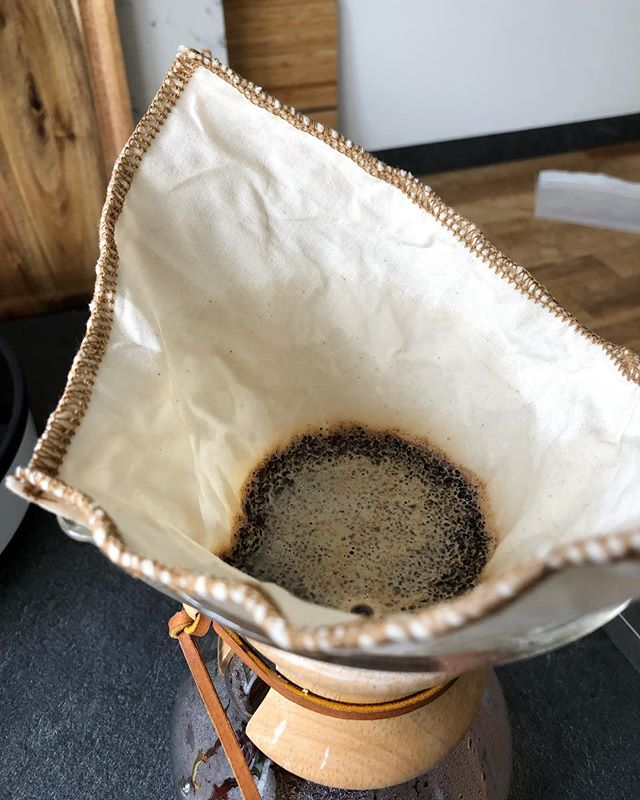 So in love with these #reusable #organic cotton #coffee filters. Coffee tastes great, grounds go into the worm compost bin... zero waste output!  #reducewaste #zerowastecoffee