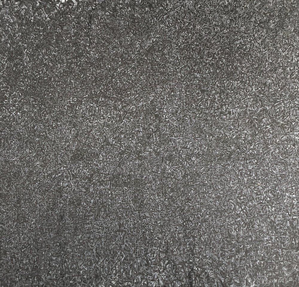 """Jose Zuno, MonoChrome 02, (77"""" x 84"""")"""