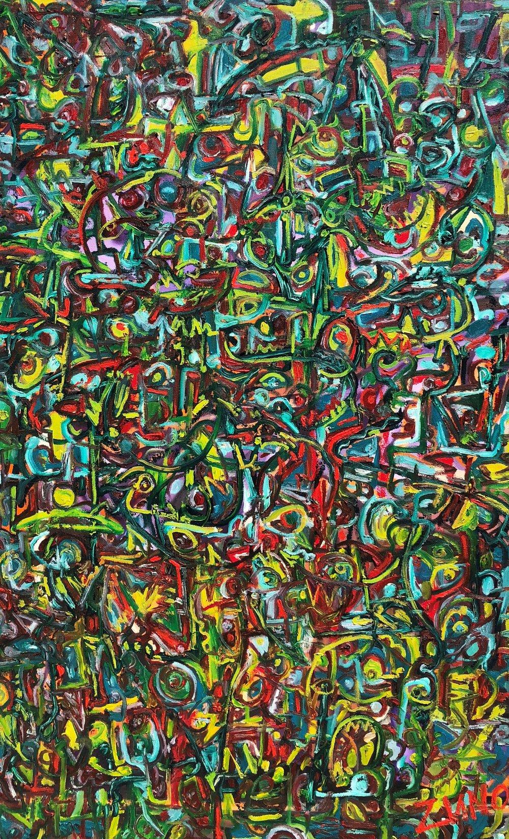"""Jose Zuno, MultiChrome 24, (48"""" x 30"""")"""
