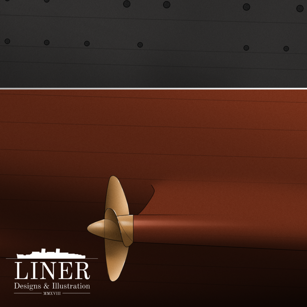 One of the Queen's immense 20' propellers that helped her capture the Blue Riband and gain dominance of the Atlantic.