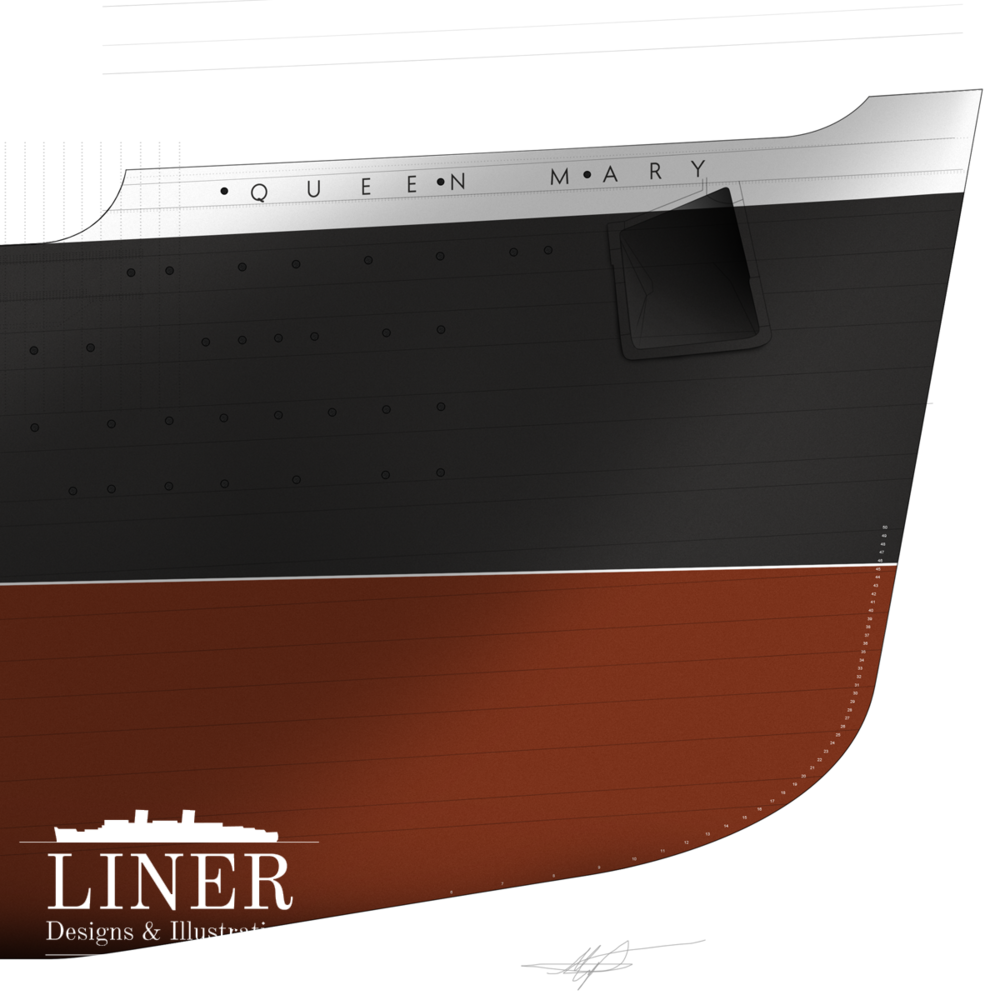 No other vessel's bow could be more iconic than that of Queen Mary's.