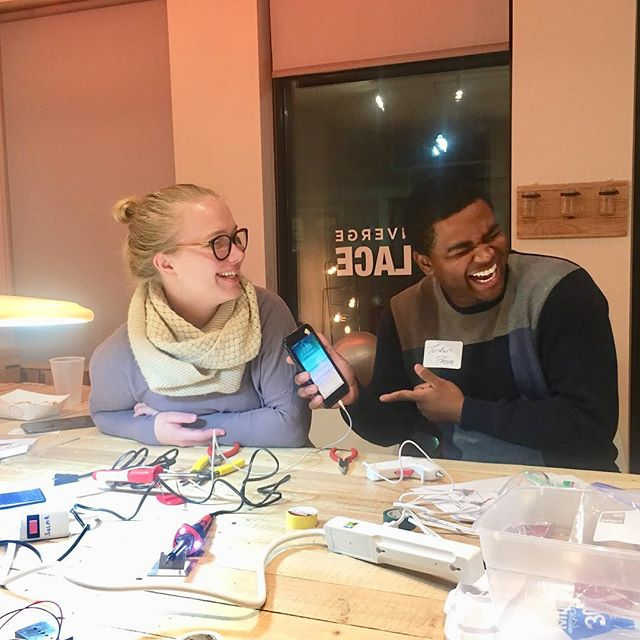 Our weekend included a pregame party to launch our Solar Nights. Portable cell phone chargers were made 🙌😊 We LOVE to bring PEOPLE together! #socialimpact #overtherhinecincinnati  #solarpower #experiences