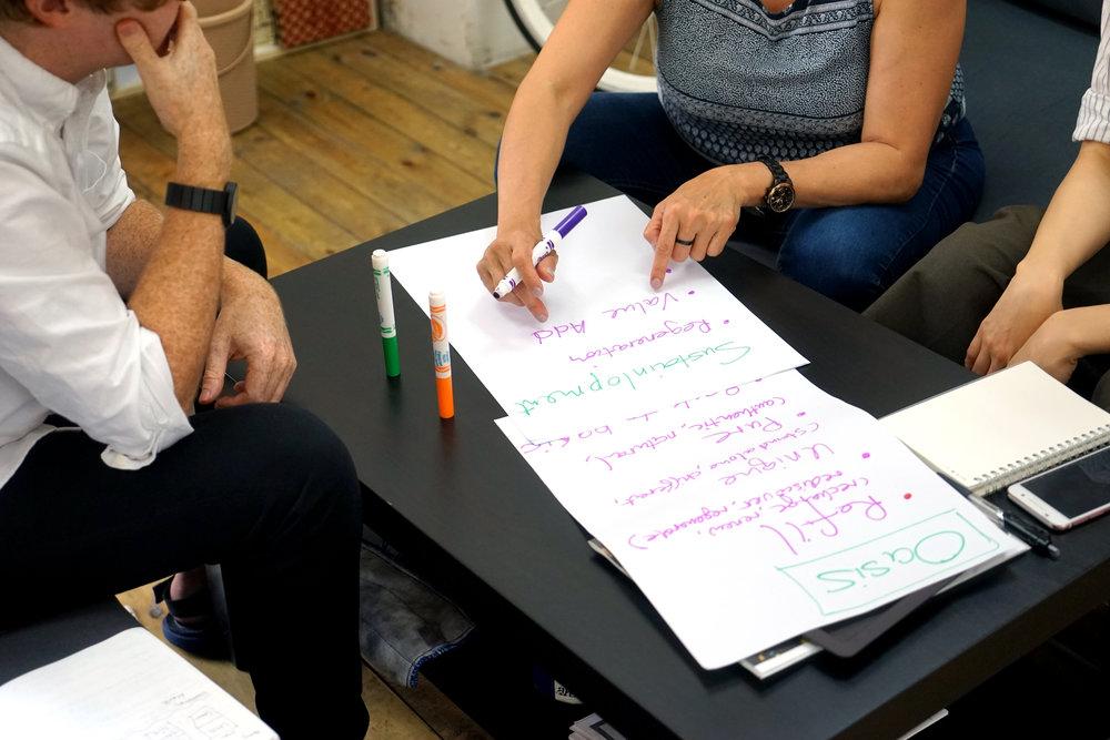 创造 - 通过共同创造解决方案使使深度见解得以实现- 策略规划- 权益相关方共同设计- 定位- 标书、申请基金提案- 室内设计和体验设计- 景观设计- 视觉识别系统设计和平面设计