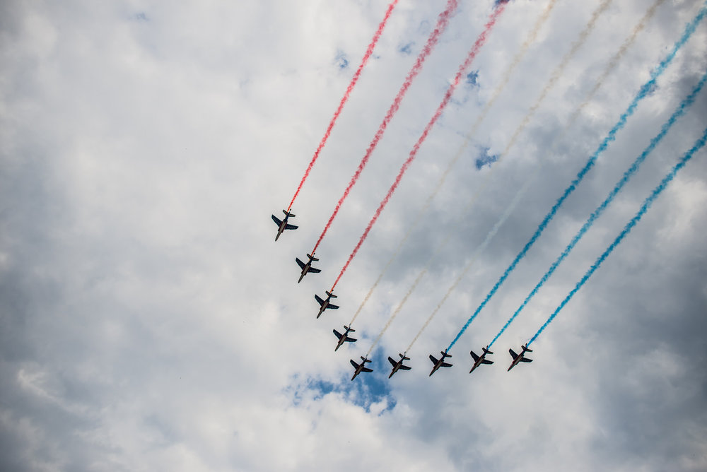 French Air Force flying the country colors