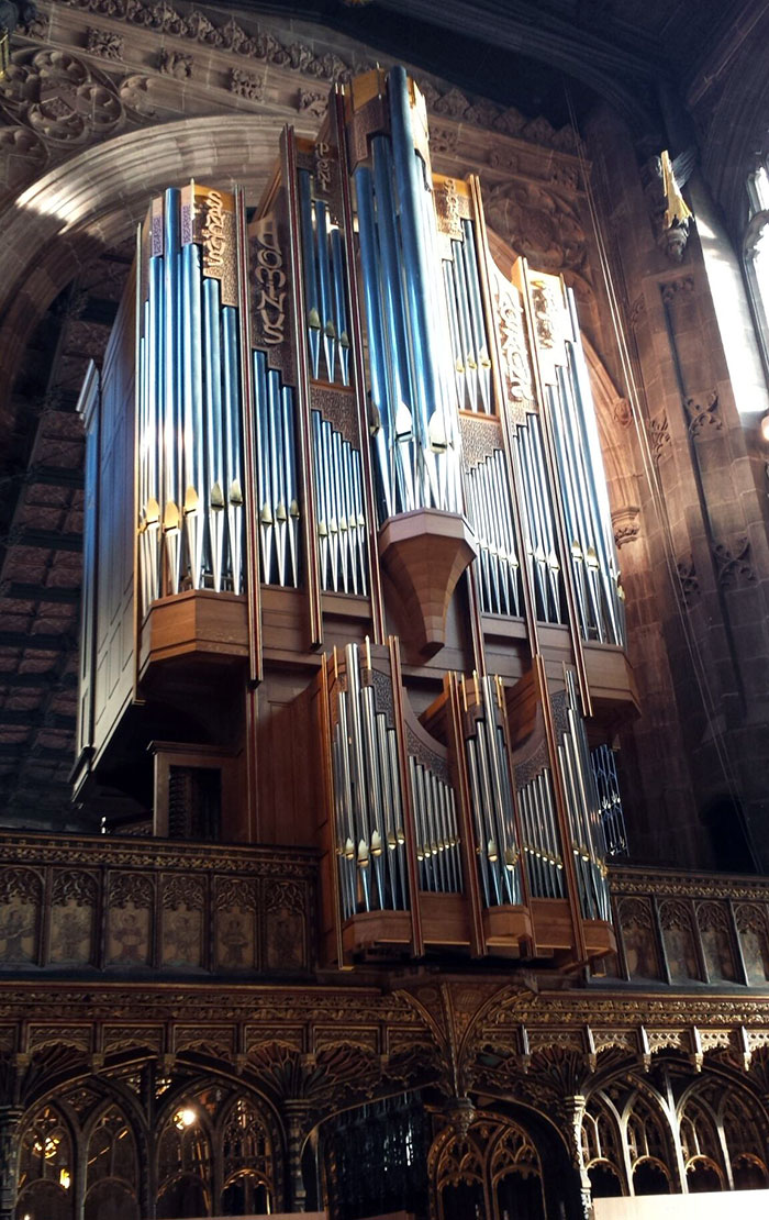 Manchester Cathedral, the new organ