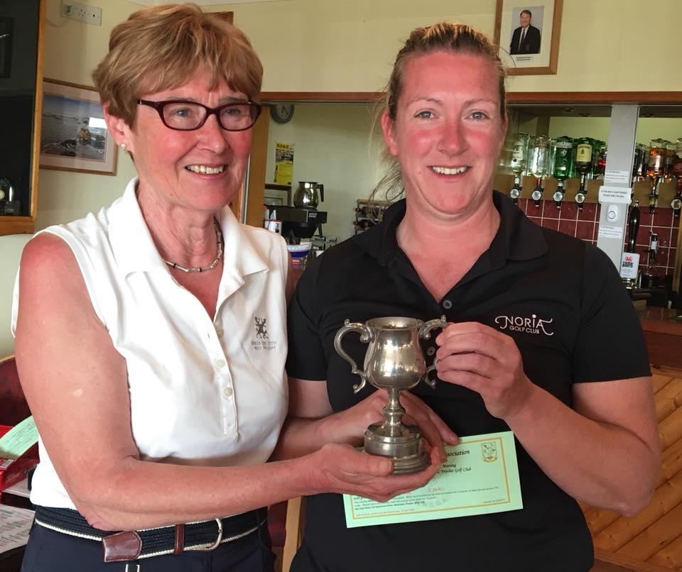 Ellen Jones - Welshpool receives Judith James Best Gross Trophy
