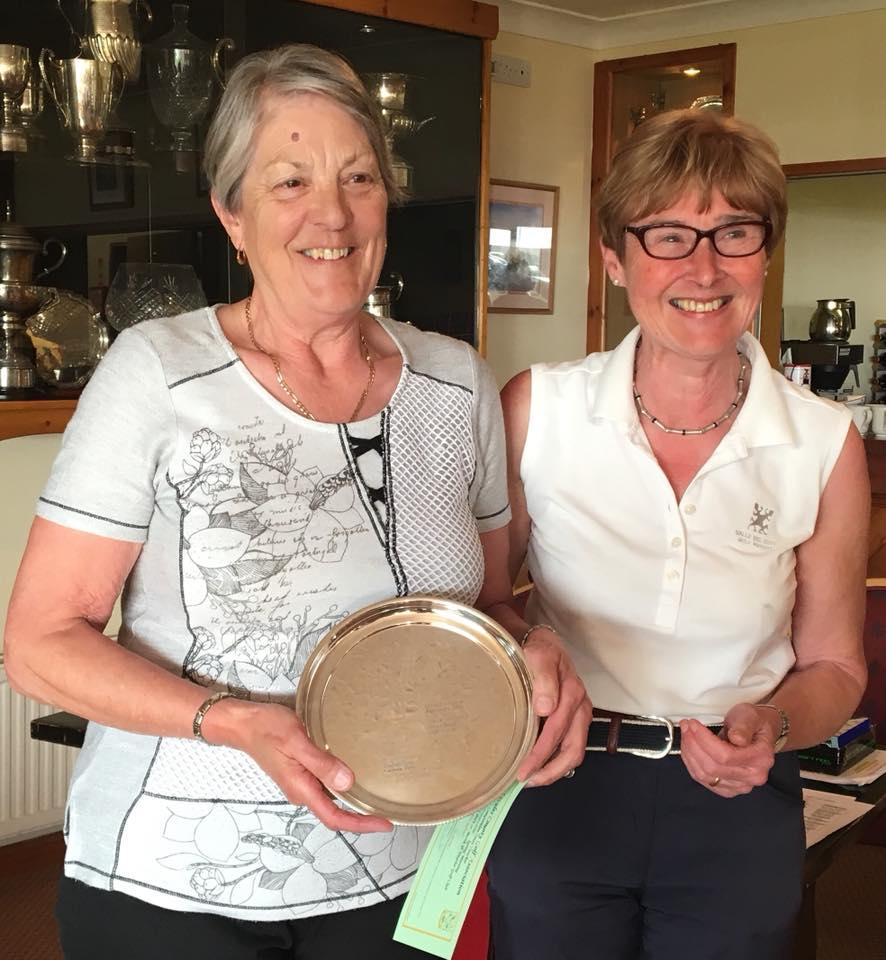 Barbara Reece - Borth and Ynyslas receives Meg Bowen Best Nett Salver
