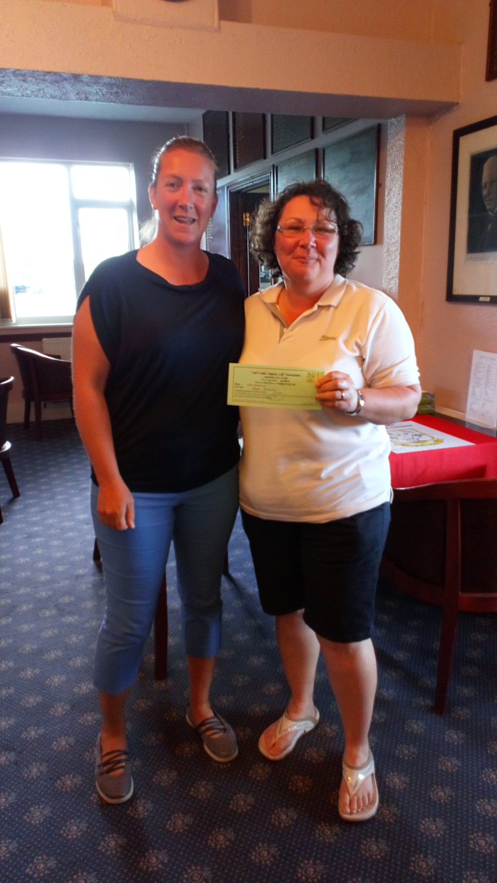 Steph Jenkins of Cradoc (R), first in the Silver Division, with Ellen Jones of Welshpool.
