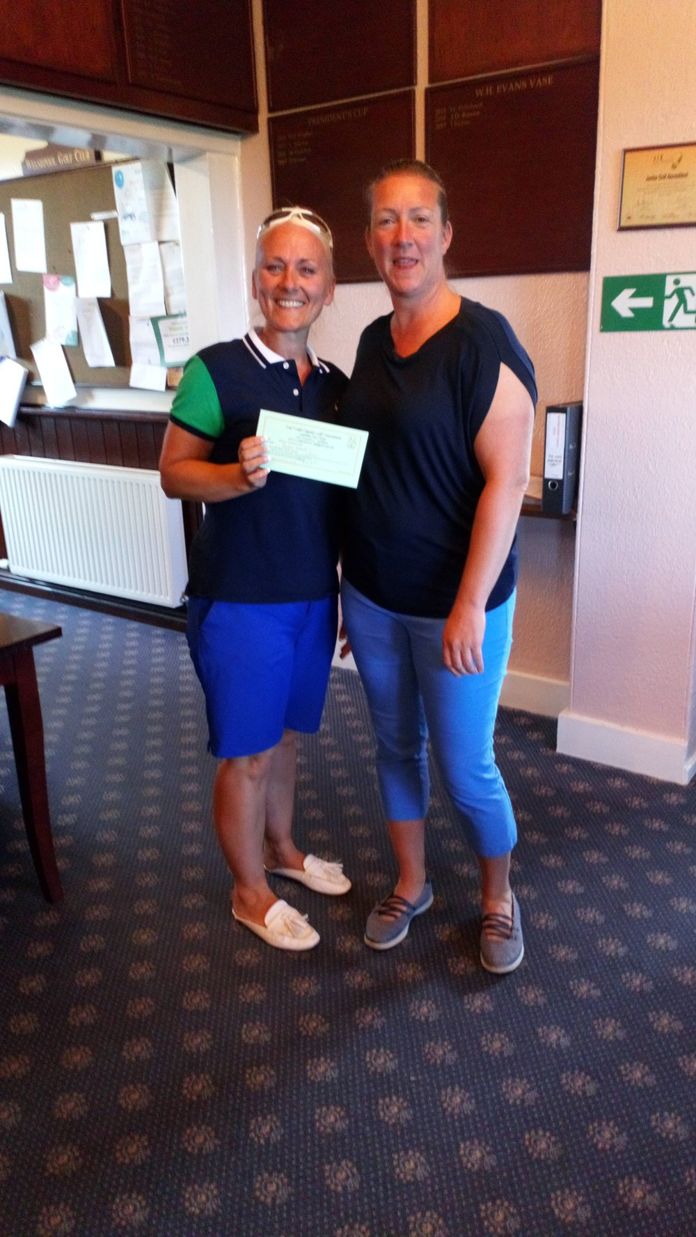 Justine Nicholl (L), 4th in the Bronze Division, with Ellen Jones of Welshpool.