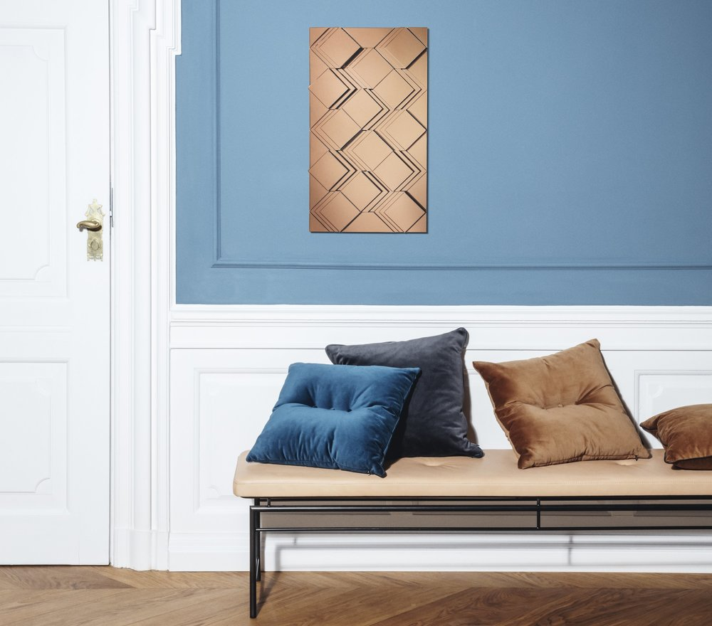 Louise Roe, Wall Art Mirroe Flip Brown, 3800,-