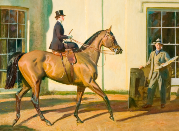 My Wife, My Horse, Myself. © 'The Estate of Sir Alfred Munnings'
