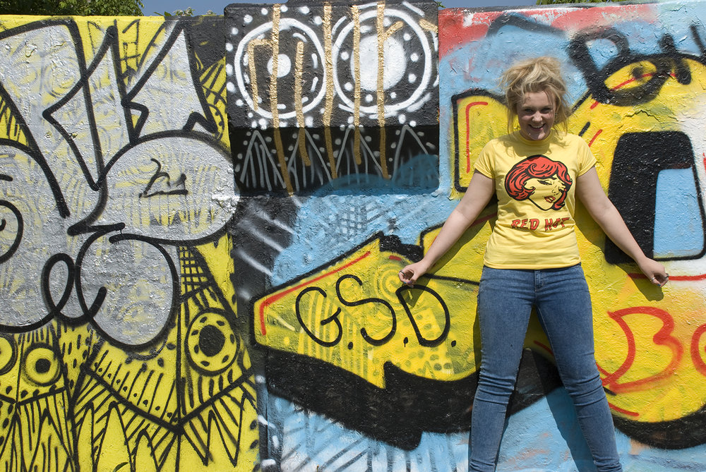 Fitzygogo! Women's Yellow Red Hot T-shirt