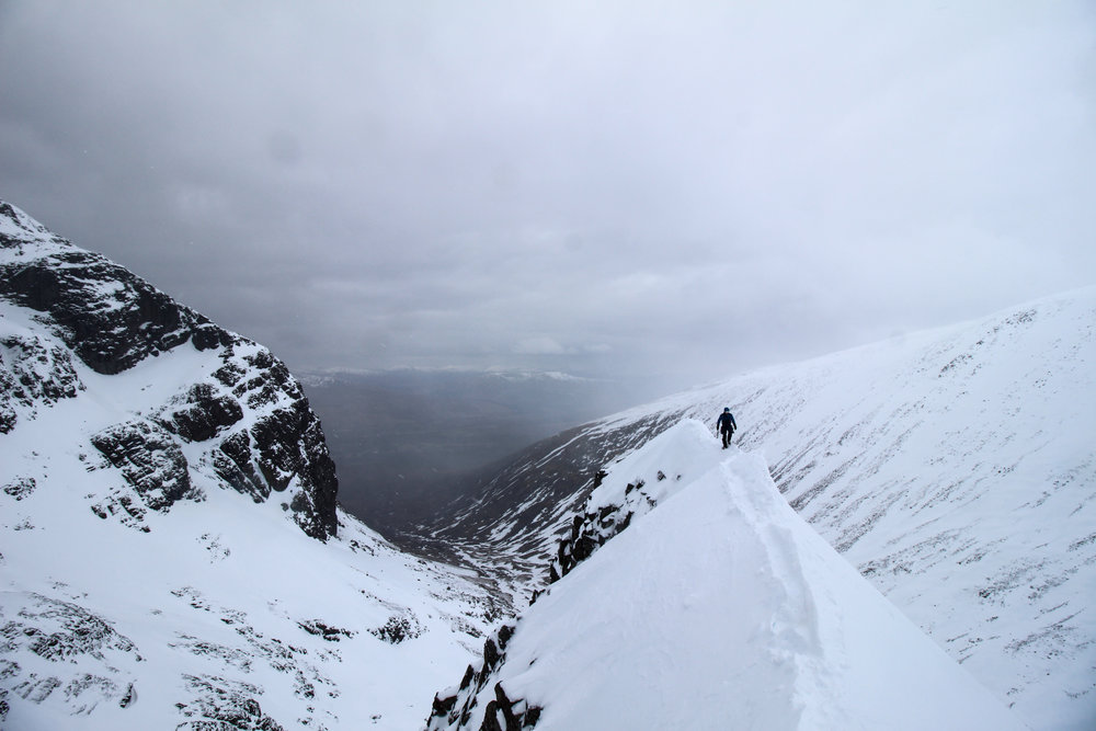 Looking along the first section of Tower Ridge. The legs were starting to feel quite heavy by this point.