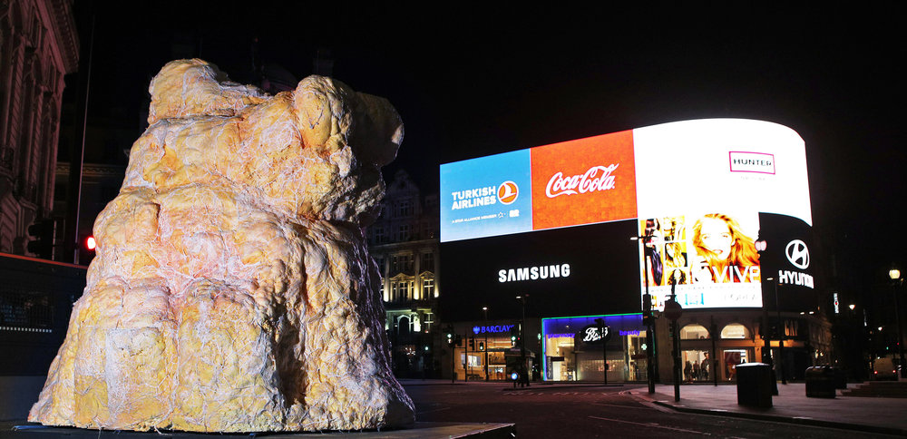 Gigantic lump of real fat measuring 12ft high appears in London to shock Brits into assessing blood health. The FATBERG, created by preventative healthcare service, Thriva represents the UK's collective weight gain of 131,296 TONNES at Christmas 2.JPG