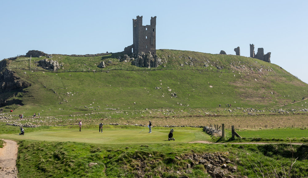 13th Green - Dunstanburgh Castle Golf Course