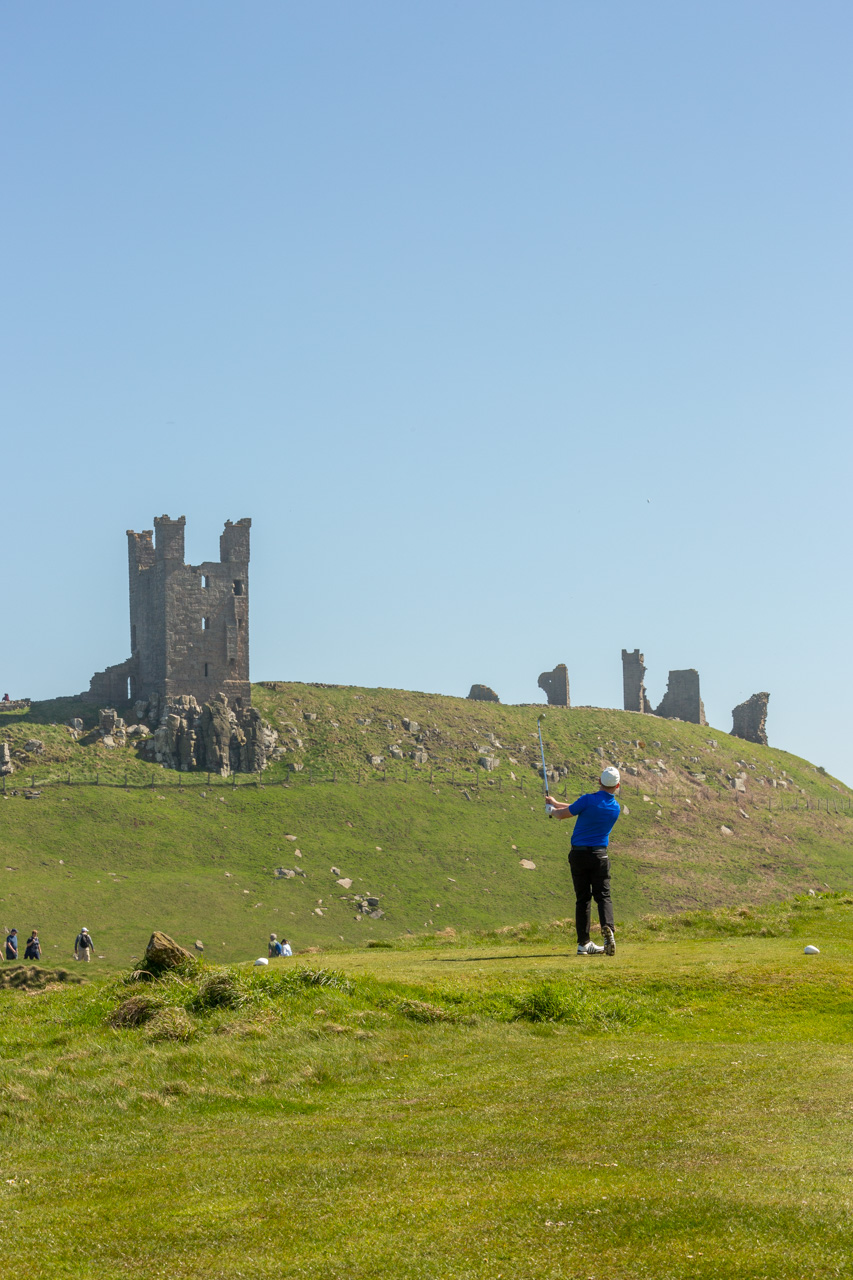 13th Tee Shot - Dunstanburgh Castle Golf Course