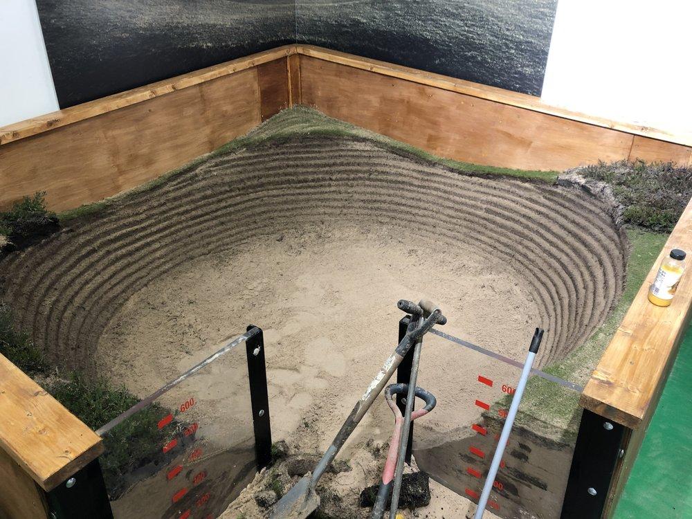 Above the bunker Stu built live.