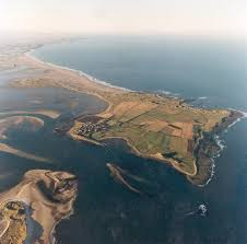 Holy Island from the sky!