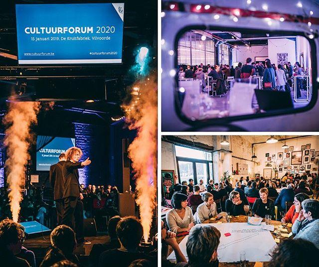 Op uitnodiging van Vlaams Minister Sven Gatz kwam gisteren de cultuursector samen in de Vilvoordse Kruitfabriek. Door interactieve workshops en inspirerende keynotes werd er nagedacht over de toekomst van het jeugd- en cultuurbeleid in Vlaanderen. Blij dat we met We Make You Happy hier onze schouders mee mochten onder zetten! #creatingmoments #cultuurforum2020 #wemakeyouhappy