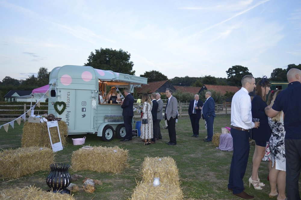 """""""Everyone loved the choice of drinks they provided"""" - We booked the Dotty Mares to serve drinks throughout the day of our wedding and they were absolutely fantastic! Everyone loved the choice of drinks they provided including locally sourced beer and special touches like 'pimp your prosecco.' We had people passing by the field where the reception was held asking where they could book them which shows just how good they looked and how popular they were on the day.The team are unbelievably friendly and helped make our day extremely special. Thank you very much! Cannot wait to have you at the next event - whenever that may be. Love Amy & John xx"""