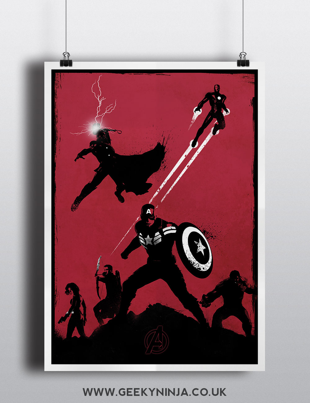 The avengers movie poster minimalist