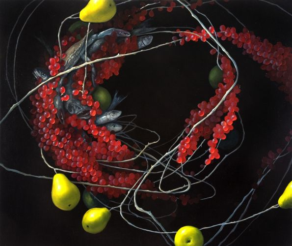 Mia Brownell,  Still Life with Catch,  2008, Oil on canvas