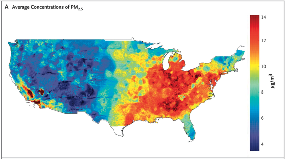 Air Pollution and mortality in the Medicare population
