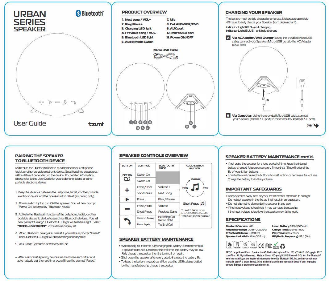 Ca  30 Resultater: Tzumi Bluetooth Sport Earbuds Manual