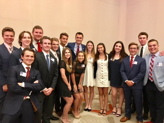Our high school conservative leaders with Charlie Kirk from TPUSA at the OCGOP Flag Day Dinner