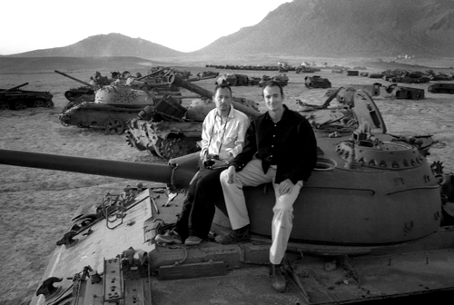 Sam and Henry in Tank Graveyard, 2003