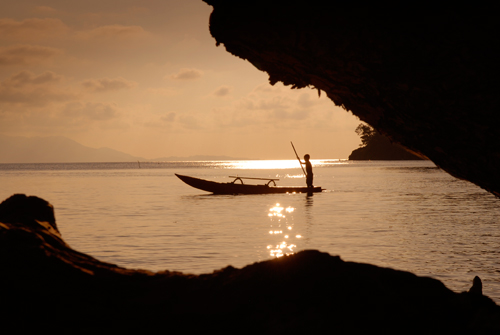 Papua canoe