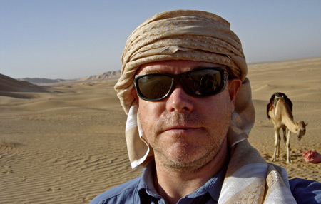 Mikael Strandberg prepares for his desert crossing